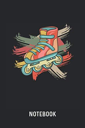 Notebook: Blank & Dotted Retro Roller Skate Journal (6
