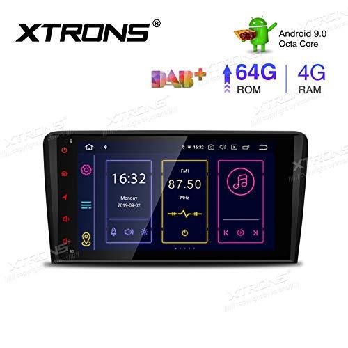 "XTRONS 8"" Android 9.0 4GB RAM 64GB ROM Autoradio mit Touchscreen Octa Core Multimedia Player unterstützt 4G WiFi Bluetooth DAB OBD2 TPMS Plug und Play FÜR Audi A3 S3 RS3"