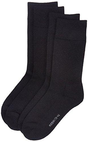Hudson Herren Socken mit Plüschsohle, 024784 Only Plush, 2er Pack, Gr. 43/46, Schwarz (Black 0005)