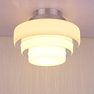 LZDHY Aluminum Ceiling Lamps Warm Aisle Lighting Fixture Three Lamppost Shade Ceiling Lamps by H&Y