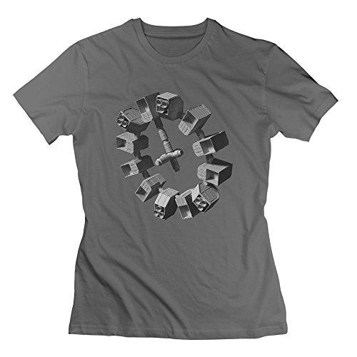 Nana-Custom Tees Damen T-Shirt Gr. M, Schwarz - Deep Heather Hunger Games Trailer