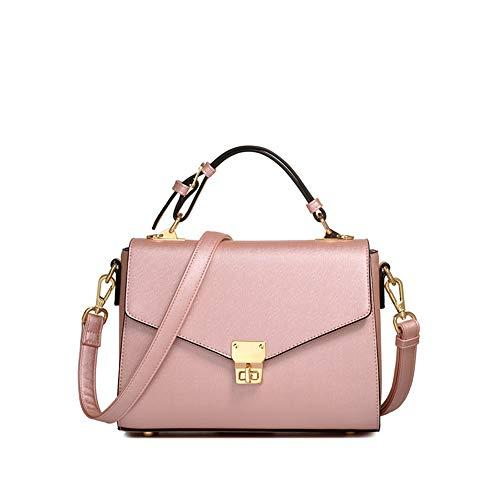 Wilde Handtasche der Beutelart und weise der Frauen, Kleiner quadratischer Beutel der Kurierbeutelschulter Perlenpuder 25 * 18.5 * 10.5cm