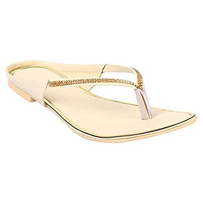 Just Lady White Flats for Women (JUSTLADY043)