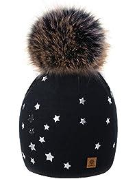 4sold Hat Mujer Stars Smile Love Womens Girls Sombrero de Invierno Gorro de  Punto de Lana 11d1d813689