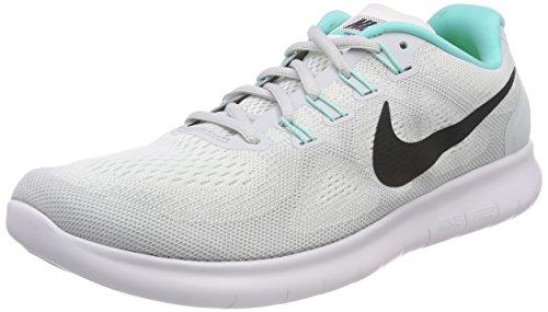 Nike Damen Free RN 2017 Laufschuhe, Grau hellgrau/Mint, 42.5 EU (Mint Laufschuh Nike Damen)