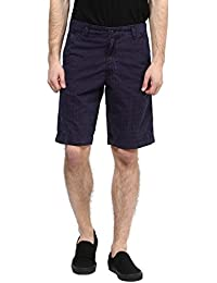 Wear Your Mind Blue Cotton Printed Three-Fourths For Men WSR033.2