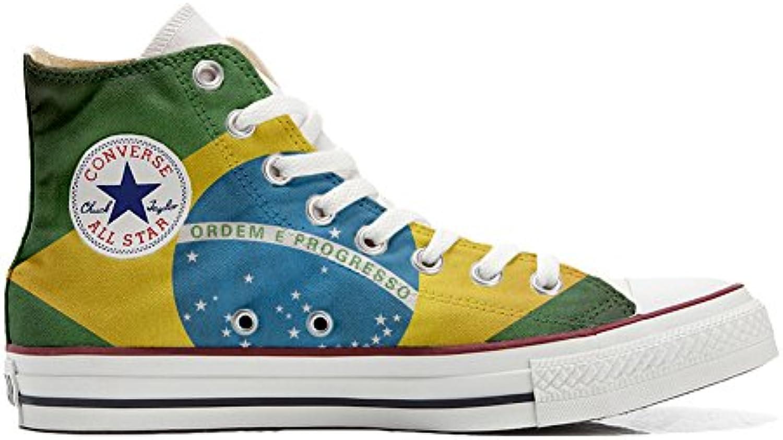 Schuhe Custom Converse All Star  Personalisierte Schuhe (Handwerk Produkt Customized) Bandiera Brasile
