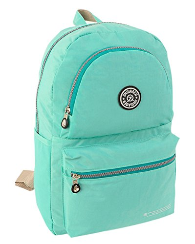 fanselatm-unisex-classic-nylon-daypack-school-backpack-green
