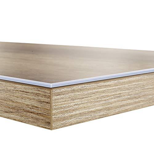 durchsichtige tischdecken Tischfolie in vielen Größen | Tischdecke transparent und abwaschbar | schützt Ihren Tisch vor Schmutz und Kratzern | Schutzfolie/Tischschoner 100x100 cm