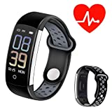NOBIXX Smart Fitness Watch – Monitor Your Health and Exercise –Heart Rate Monitor, Blood Oxygen and Blood Pressure Monitoring, Step and Calorie Counter, Sleep Monitor,(Gray)