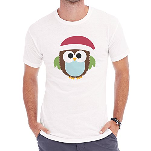 Owl Bird Night Midnighter Christmas Herren T-Shirt Weiß