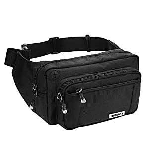 41hspo4o6IL. SS300  - Speedsporting Large Bum Bag Waist Travel Pouch Fanny Pack Non-slip Belt Waist Bag Pack Durable Waist Pouch Belt Bag Running Bag Water Resistant Ideal For Hiking Travel