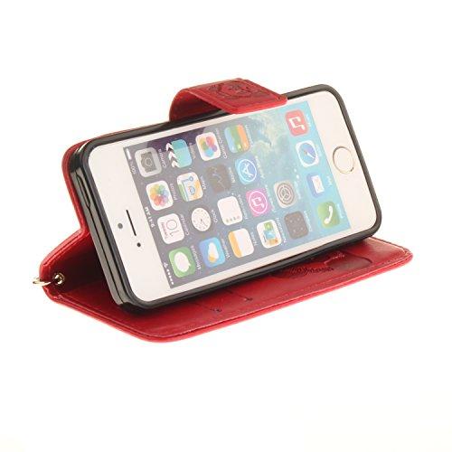 PU Prägen Panda Silikon Schutzhülle Handyhülle Painted pc case cover hülle Handy-Fall-Haut Shell Abdeckungen für Smartphone Apple iPhone 5 5S SE +Staubstecker (7CR) 2