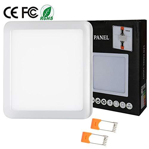 8W Luz de techo empotrada empotrada LED Cuadrado Ajustable Downlight Panel Iluminación...