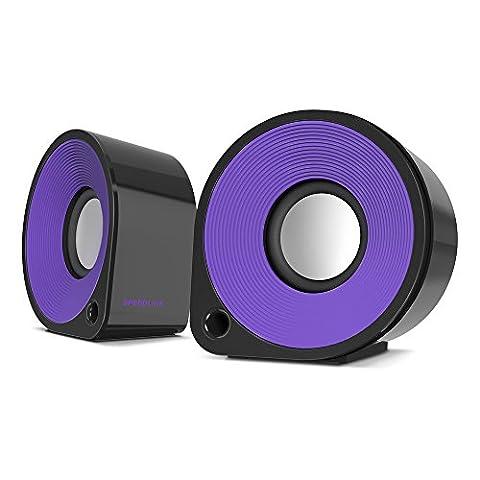 Speedlink Aktive Stereo-Lautsprecher - ELLIPZ Stereo Speakers USB (6W RMS Ausgangsleistung - Stufenloser Lautstärkeregler - Kabellänge 1m) Computer / Laptop (Pc Stereo Lautsprecher)