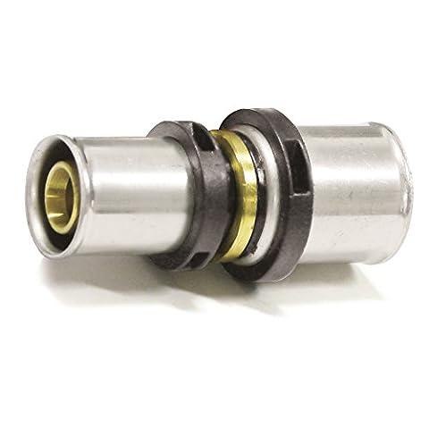 Pipetec Pressfitting Kupplung 32x3 26x3 mm Verbinder Reduzierung TH Kontur Verbundrohr, DVGW, TH-Profil