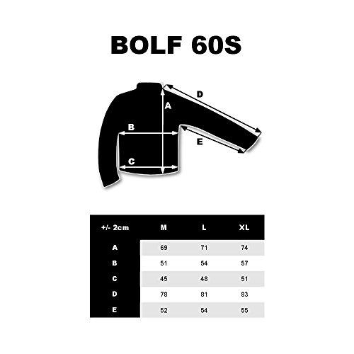 BOLF Felpa – Con cappuccio – Con cerniera – Con stampa – Di cotone – Street style – Da Uomo 1A1 Antracite