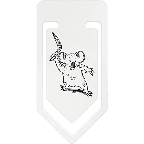 Azeeda 141mm 'Koala Mit Bumerang' Riesige Plastik Büroklammer (CC00041382)