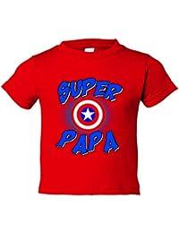 Camiseta niño Súper Papá Capitán América