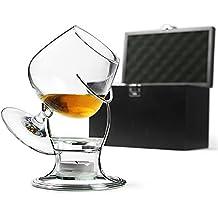Deluxe Cognac & Brandy Wärmer Set inklusive Brandy Glas, Brandy Wärm-Ständer, Teelicht & Teelichthalter | bar@drinkstuff | - Ballonglas, Schwenker für Brandy, Cognac, Armagnac oder Calvados