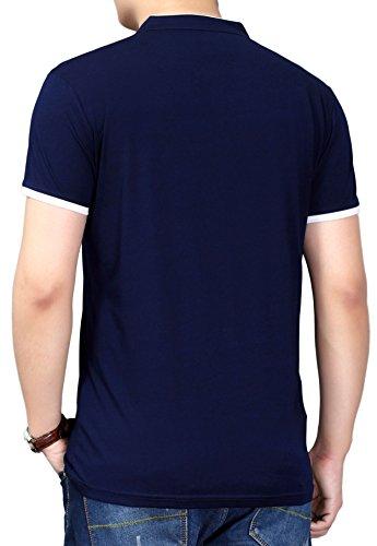 ... DD UP Herren Casual Slim Fit T-Shirt mit V-Ausschnitt Baumwolle  Kurzarmshirt Navy ...