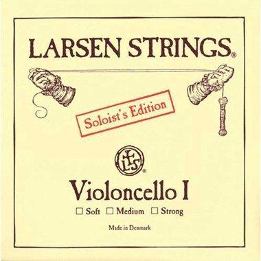 Larsen Saiten für Cello A Chromstahl Soloist's Edition I 4/4; Strong
