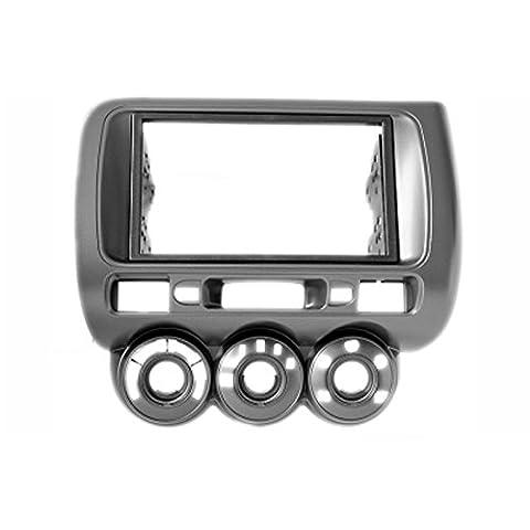 carav 11–464 Doppel DIN Autoradio Radioblende DVD Dash Installation Kit für Honda Fit, Jazz 2002–2008 Manuelle Klimaanlage links Lenkrad Faszie mit 173 * 98 mm und 178 * 102 mm