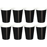 Bicchieri di carta Nero di getto (confezione da 8)