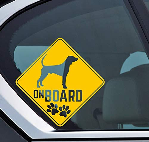 Black and Tan Coonhound on board Aufkleber, Hund an board, Dog on board, Sticker Auto, Dog, Hund, Puppy, Type D -