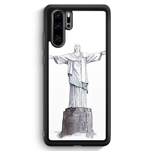 Cristo Redentor Rio De Janeiro - Silikon Hülle für Huawei P30 Pro - Motiv Design Christlich Jesus Brasilien Schön - Cover Handyhülle Schutzhülle Case Schale