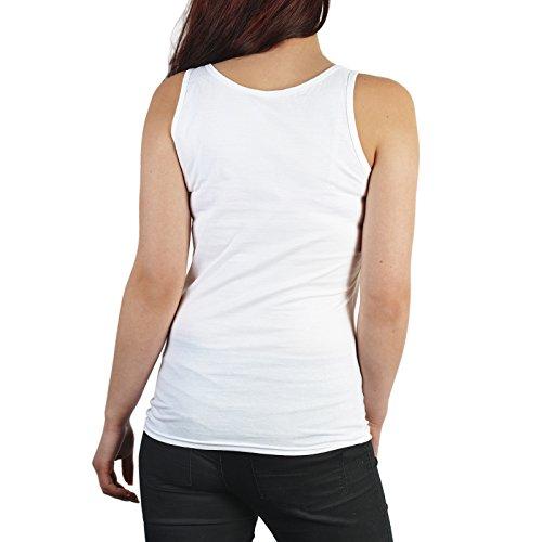 Damen Tanktop zum Geburtstag - Since 1976 Originalzustand - Girlieshirt, Top Geschenk, Farbe: weiss Weiß