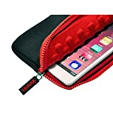 Nimbus 7 Asus Google Nexus 7 / Kindle Fire HD / Kindle Fire (£129) / Kobo Arc / Universal Tablet PC Sleeve/Case - Black Red - eReader, Anti-Shock Bubble Lined Neoprene Protective Cover / Samsung Galaxy Tab 7