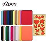 26 Colores parches de planchado con 26 plantillas Parches Para Ropa multifunción parches Vestidos, jeans, chaquetas, toffs,...