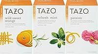 Tazo Herbal Tea, Wild Sweet Orange & Refresh Mint & Passion, 20 Filterbagas Each