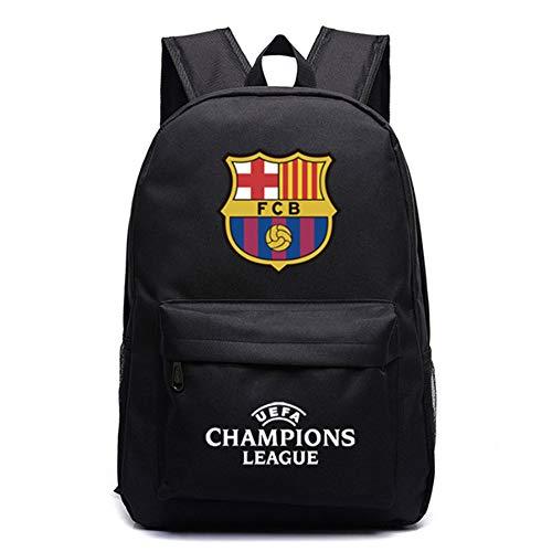 Rucksäcke, Enjoyfeel Laptop Umhängetasche, Real Madrid Fans Geschenk, Schultasche für Outdoor Reisen (Black) (Nur Männer Real Black)