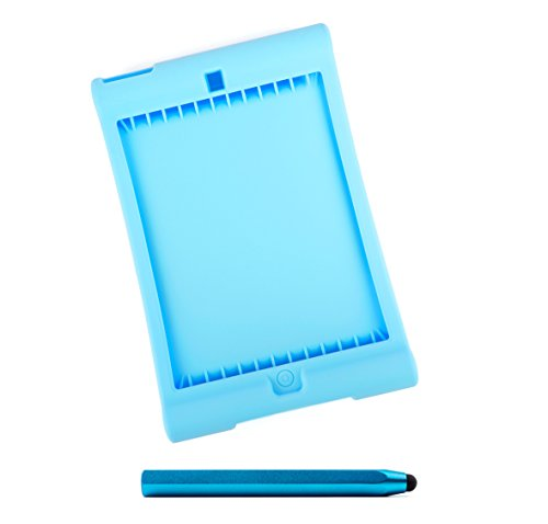 DURAGADGET BlaueEasy Grip Silikonhülle und schwarzer Stift für Apple iPad 2018 - Ipad 2 Cellular Gb 128 Mini