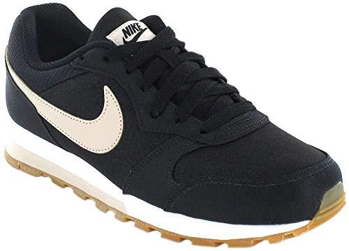 Nike MD Runner 2 SE, Zapatillas de Atletismo para Mujer, Multicolor (Black/Desert Sand/Gum Light Brown 003), 38 EU