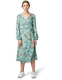 TOM TAILOR Damen Florales Midi Wickel Kleid