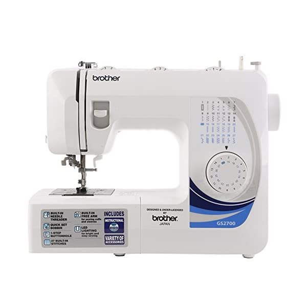 Brother Gs-2700 Plastic 9-inch Electric Sewing Machine with Extension Table(Multicolour)