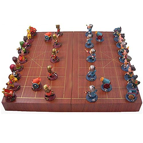 hes Schachspiel Resin Stereo Chess Characters Chess Pieces Match Chess Board ()