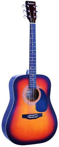 Falcon FG100SB - Guitarra acústica con cuerdas metálicas (tilo, tipo dreadnought)