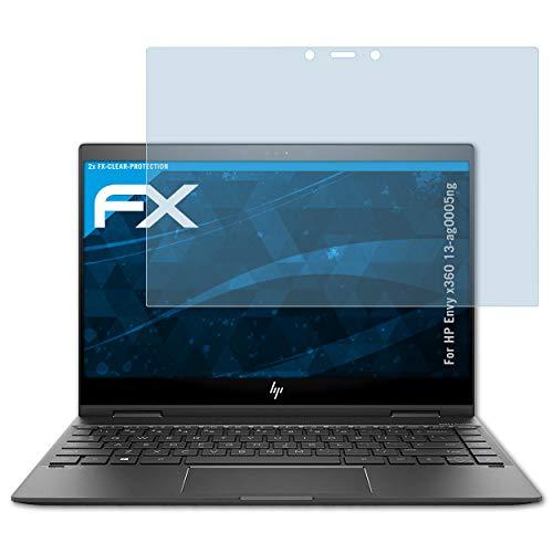 atFolix Schutzfolie kompatibel mit HP Envy x360 13-ag0005ng Folie, ultraklare FX Bildschirmschutzfolie (2X)