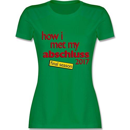 Abi & Abschluss - How I met my Abschluss 2017 - tailliertes Premium T-Shirt mit Rundhalsausschnitt für Damen Grün