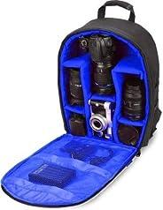 Uspech Shoulder Backpack to Carry DSLR SLR Lens Camera Bag(Blue, Black)