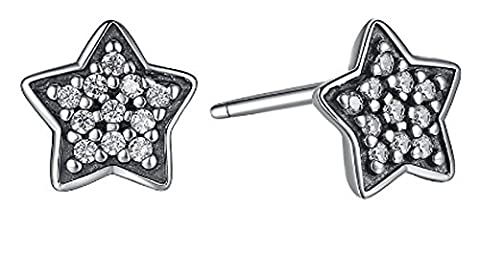 SaySure- 925 Sterling Silver Women Stud Earrings With Clear CZ