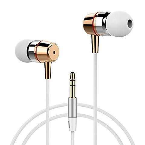 Earphones, Splaks Heavy Stereo BASS Noise Isolating In-Earphones Earbuds Headphones
