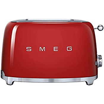 Smeg TSF01RDEU 2slice(s) 950W Red toaster - Toasters (2 slice(s), Red, Stainless steel, 950 W, 220-240, 50/60)