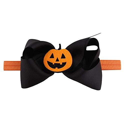 (Qiusa Halloween Headwear Mädchen Infant Haarband Nette Stirnbänder Bowknot Zubehör (Farbe : B))