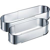 Westmark ausziehbare Backform, 27 bis 40 cm, Oval, Rostfreier Edelstahl, Silber, 31352260