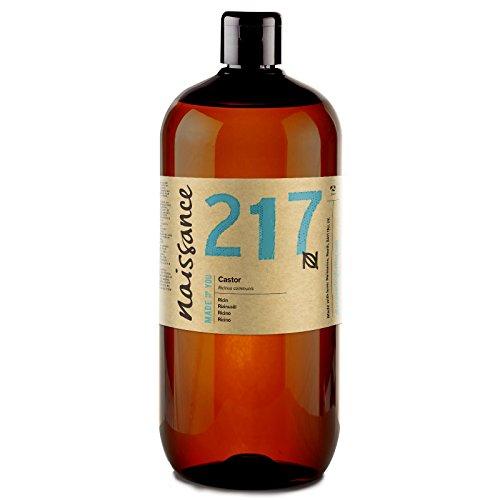 Naissance Olio di Ricino Pressato a Freddo 1L - Puro, Naturale, Vegano, Senza Esano, Senza OGM – Nutre ed Idrata Capelli, Ciglia e Sopracciglia